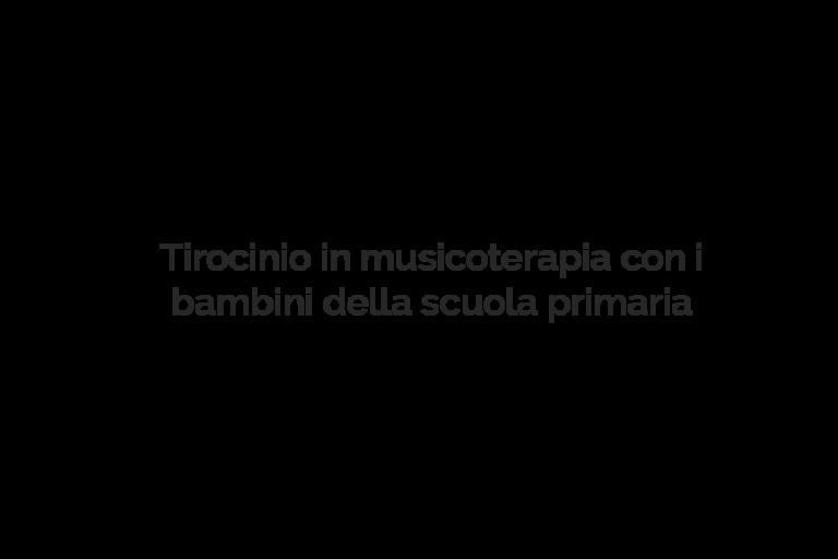 Tirocinio Musicoterapia Lucia Lanaro