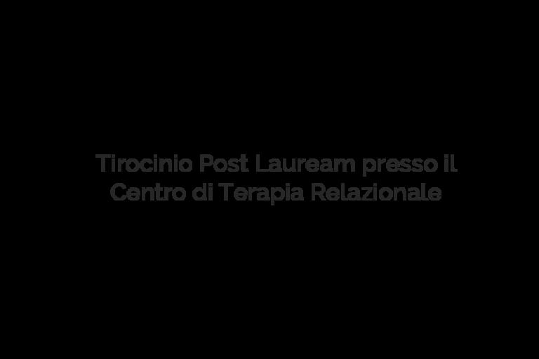 tirocinio terapia relazionale Lucia Lanaro